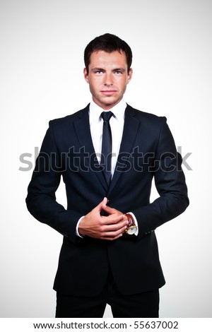 Young professional on a white background - stock photo