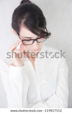 Young professional woman isolated on white background - stock photo