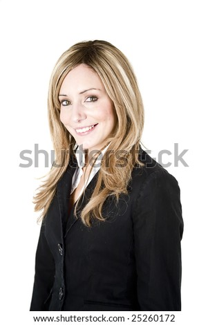 Young professional woman portrait isolated on white background - stock photo