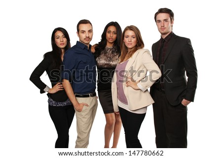 Young Professionals, group of 5 people - stock photo