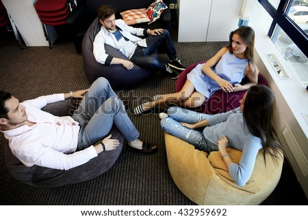 Young professionals work in modern office.Business crew working with startup.