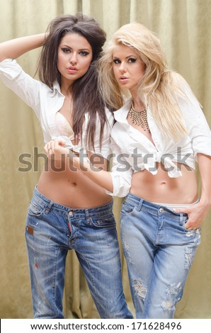 young rebel girl posing fot a photo session - stock photo