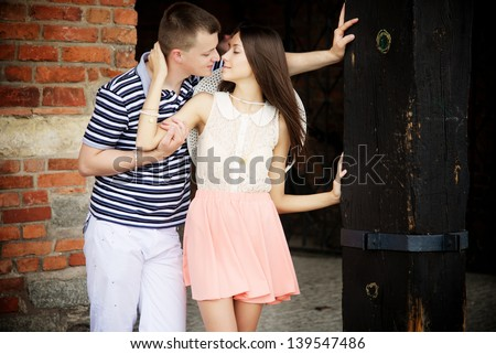 young romantic couple - stock photo