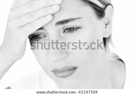 Young Sad Woman Portrait - stock photo