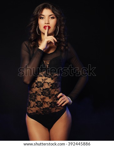 young sexy striptease dancer - stock photo