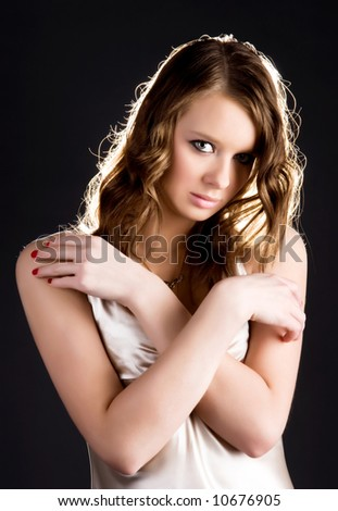 Young sexy woman glamour portrait. - stock photo