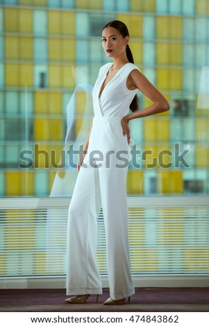 Woman Jumpsuit Stock Images, Royalty-Free Images & Vectors ...