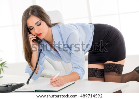 Short skirt stock images royalty free images vectors for Videos porno oficina