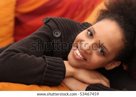 Young smiling woman - stock photo