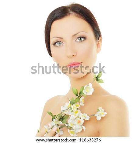 Young spa model - beautiful woman - stock photo
