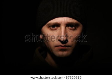 young strong man - stock photo