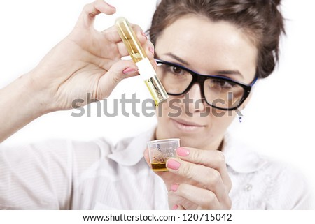 young student preparing home made cosmetics