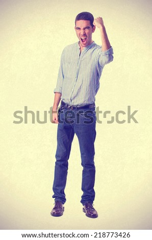 young successful man - stock photo