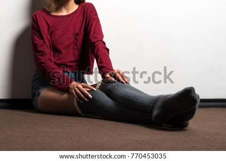 Young teen in socks pics #5