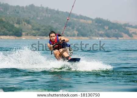 Young wakeboarder - stock photo