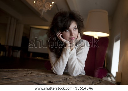young woman - stock photo