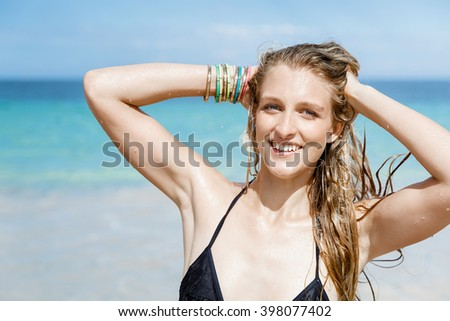 Young woman at the beach