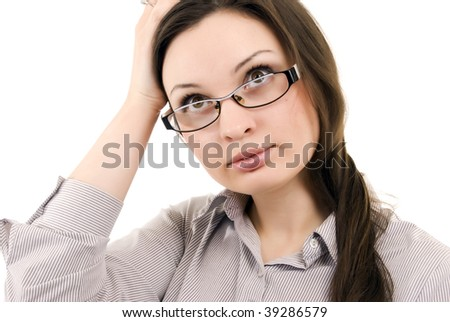 Young woman: business theme - posing