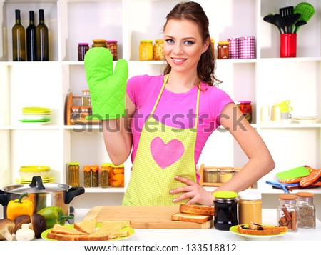 Cleaning Concept Woman Washes Oven Kitchen Stock Photo ...