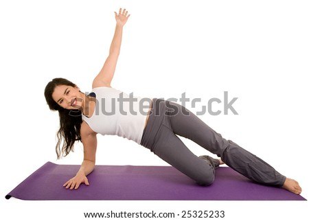 Young Woman Exercising. - stock photo
