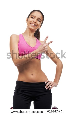 young woman fitness - stock photo