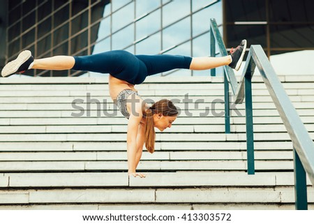 handstand stock photos royaltyfree images  vectors