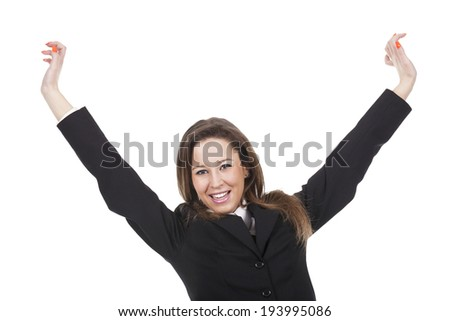 young woman happy  - stock photo