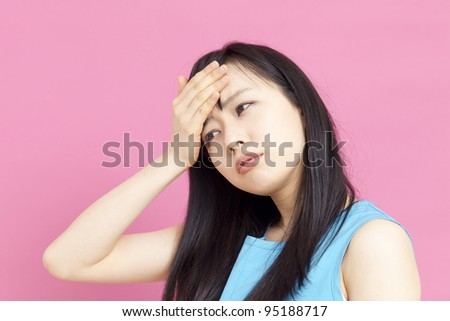 Young woman having cold. - stock photo