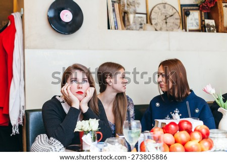 young woman in love - stock photo