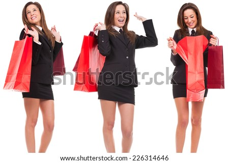 young woman in shop - stock photo