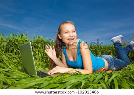 Young Woman in the field