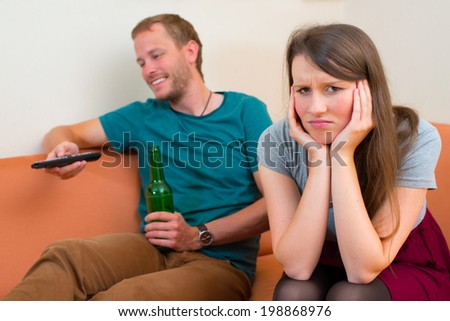 young woman is frustrated - stock photo