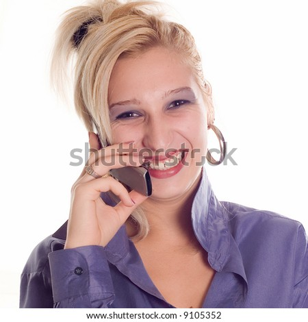 Young woman making a call phone on mobile