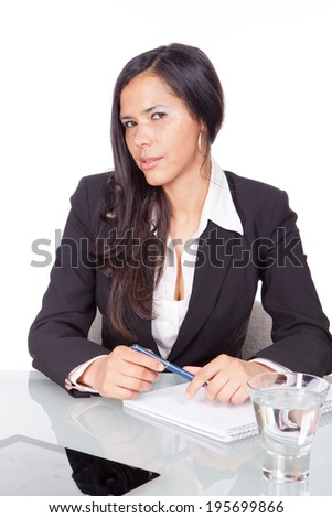 young woman office - stock photo