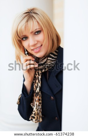 Young woman on the phone. - stock photo