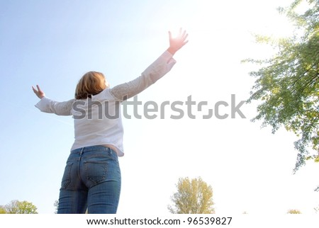 Young Woman Outdoor - stock photo
