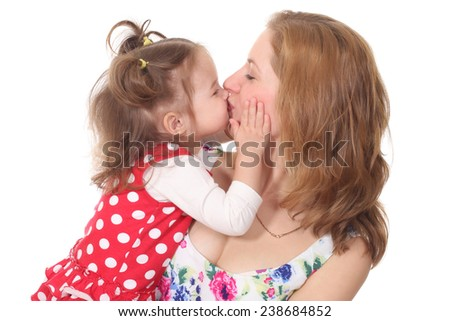 Young woman play with her daughter