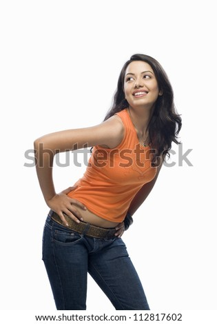 Young woman posing - stock photo