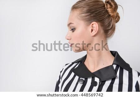 young woman posing  - stock photo
