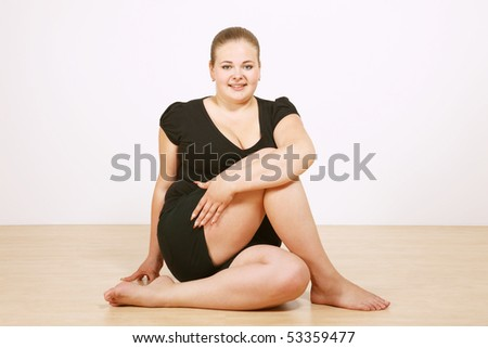 young woman practicing yoga - stock photo