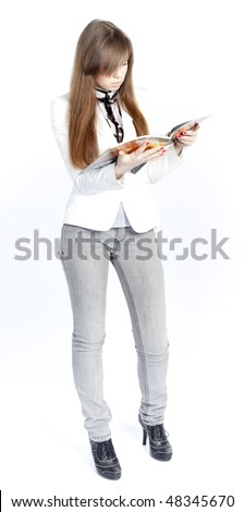 young woman reading - stock photo