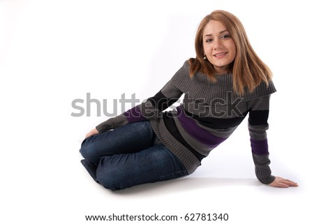 young woman relaxing - stock photo