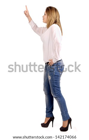 young woman screaming isolated in white