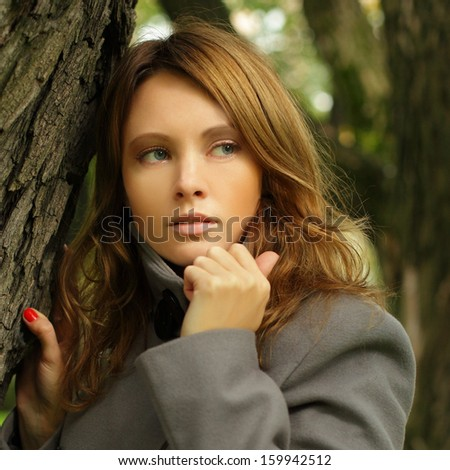 Young woman, season fashion portrait - stock photo
