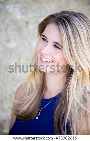 Young woman smiling outdoor