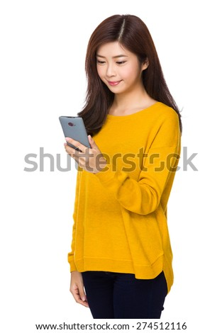 Young woman use of cellphone