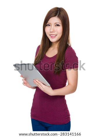 Young woman use of digital tablet