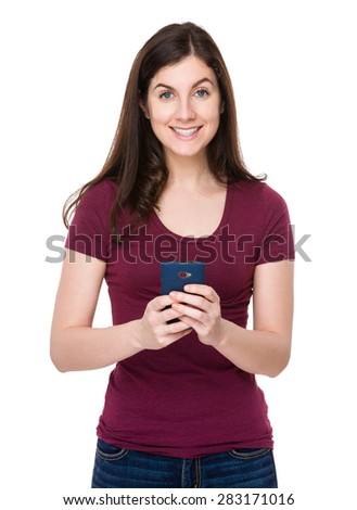 Young woman use of the cellphone