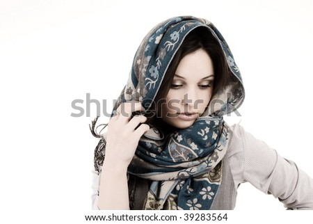 Young woman: vail - stock photo