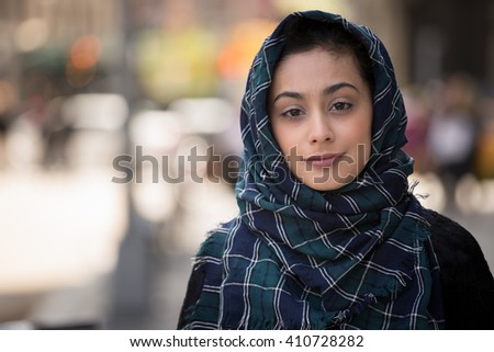 Nude Scarves   M S Shutterstock Glamour cover shot of a nude woman wearing a fur scarf and hat  Copy space